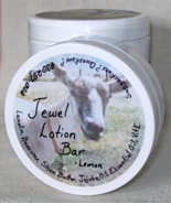 Lemon Jewel Lotion Bar  all natural moisturizing bar for hands heels elb... - $8.25