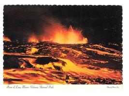 Hawaii Volcanos National Park River of Lava Vtg Postcard 4X6 - $4.74