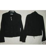 WALLIS Ladies Misses sz 12 100% Black Cotton Pleated Bottom Jacket NWT M... - $19.88