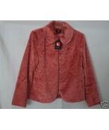 Gallery Womens Clothing Pink Faux Fur Jacket Coat Sz L - $30.55