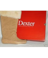 Dexter Ladies Camel Suede Vail Sheepskin Top Mocassin Boot Sz. 7 M NIB M... - $40.00
