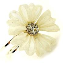 Ladies Statement Chunky Giant Flower Mesh Metal Hinged Cuff Bracelet Sil... - $13.46