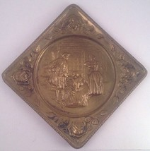 Wall Square Brass Plate ELPEC ENGLAND Stamped P... - $9.49