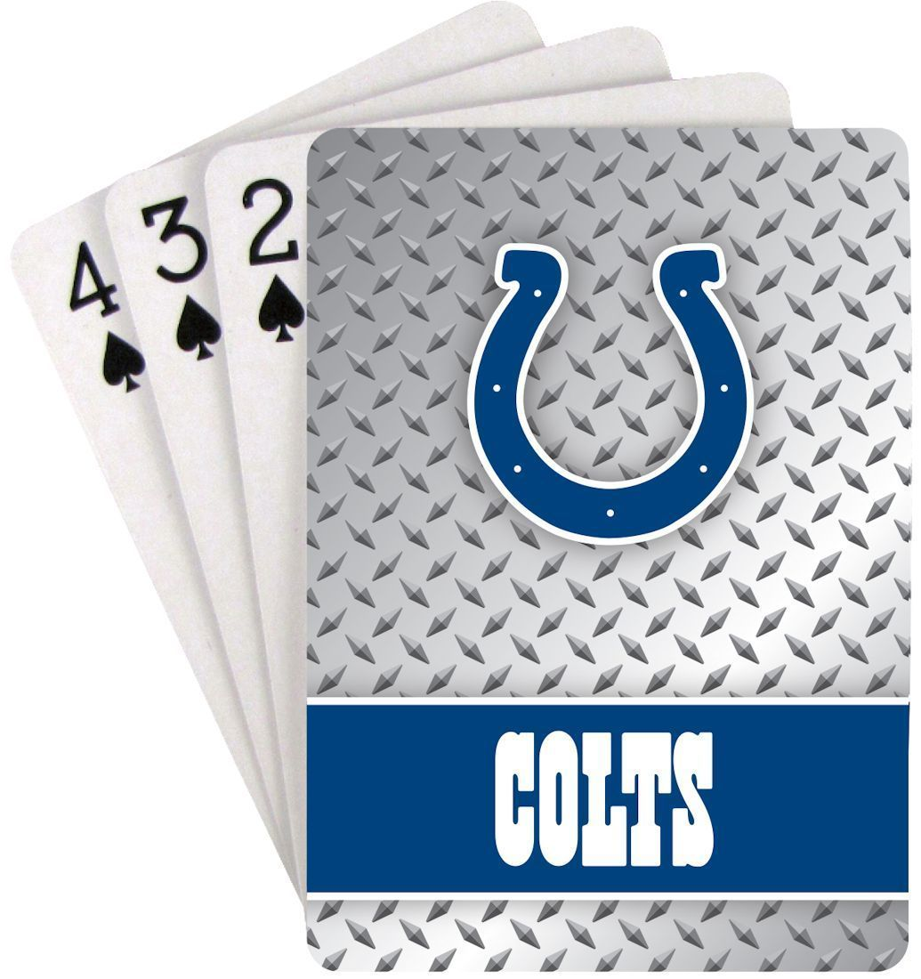 INDIANAPOLIS COLTS 52 PLAYING CARDS DECK DIAMOND PLATE POKER  NFL FOOTBALL