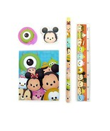 Disney Tsum Tsum 5pcs Stationery Set Notepad Ruler Eraser Pencil Pencil ... - $2.23
