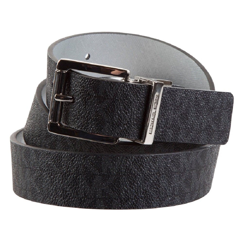 Michael Kors Women's MK Logo Premium Leather Reverisble Belt Black 551508