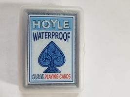 HOYLE WATERPROOF CLEAR BLUE PLAYING CARDS  - $12.00
