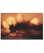 Vintage Postcard High Waves at  Vue de I' eau Santa Cruz California K3 - $13.61