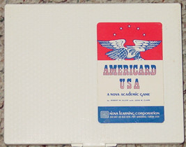 AMERICARD USA  GAME NOVA ACADEMIC LEARNING CORP 1968 PLASTIC CASE COMPLETE - $10.00
