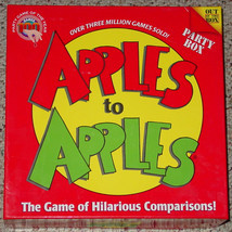 APPLES TO APPLES PARTY BOX GAME 2007 OUT OF THE BOX 8 PACKS FACTORY SEAL... - $15.00