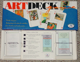 ART DECK CARD GAME ARTDECK RUMMY GAME 1998 ARISTOPLAY COMPLETE - $20.00
