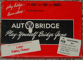 Autobridge Play Yourself Bridge Game #Pgb Beginners Set With Goren Book - $10.00