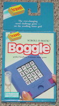 BOGGLE SCROLL O MATIC 3 MINUTE WORD GAME 1991 P... - $30.00