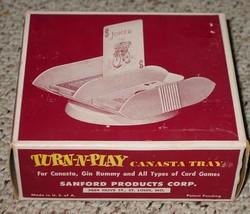CANASTA TRAY TURN N PLAY SANFORD PRODUCTS VINTAGE - $20.00