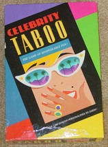CELEBRITY TABOO GAME 1991 HERSCH COMPLETE EXCELLENT LIGHTLY USED CONDITION - $25.00
