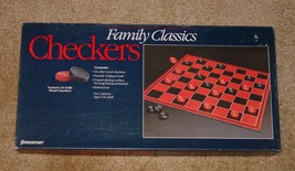 CHECKERS FAMILY CLASSICS CHECKERS GAME SOLID WOOD 1991 PRESSMAN COMPLETE - $20.00