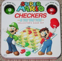 Checkers Super Mario Checkers & Tic Tac Toe Collectors Game 2011 Complete Excel - $25.00