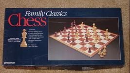 "CHESS FAMILY CLASSICS CHESS GAME 2 5/8"" SOLID STAUNTON CHESSMAN 1991 PRE... - $20.00"