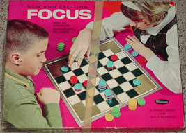 Chess Focus Game Easy As Checkers Challenging As Chess Game 1965 Whitman Western - $20.00