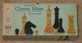 Chess Men Authentic Staunton Design 3 1/8 Inch King Milton Bradley 1969  Vintage - $12.00