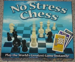CHESS NO STRESS CHESS GAME 2004 WINNING MOVES COMPLETE EXCELLENT LIGHTLY... - $20.00