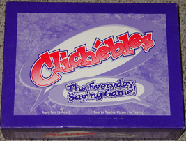 CLICHEBLES EVERYDAY SAYING GAME 1996 NEW IN BOX SEALED PARTS COMPLETE EX... - $25.00