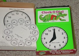 CLOCK O DIAL TEACHES CHILDREN TO TELL TIME GAME 1986 EDUCATIONAL INSIGHT... - $25.00