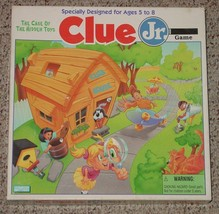 CLUE JR GAME CASE OF THE HIDDEN TOYS PARKER BROTHERS 1995 COMPLETE EXCEL... - $20.00