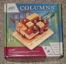 COLUMNS TWO PLAYER WOODEN STACKING GAME 2003 PI... - $32.00