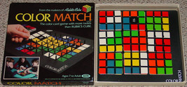 COLOR MATCH GAME FROM MAKERS OF RUBIKS CUBE IDEAL TOY 1982 #2192-3 COMPLETE - $25.00