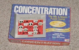Concentration Mix & Match Puzzle Game 40 Th Anniv Ed 1998 Endless Games Complete - $20.00