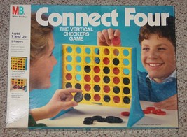 CONNECT FOUR  GAME 1990 VERTICAL CHECKERS CONNECT 4 GAME MILTON BRADLEY ... - $20.00