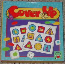 COVER UP GAME DISCOVERY TOYS 1994 LEARN COLORS SHAPES SYMBOLS COMPLETE E... - $20.00