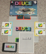 DEUCE CARD GAME Milton Bradley 1985 Complete Colorful card Matching game - $15.00