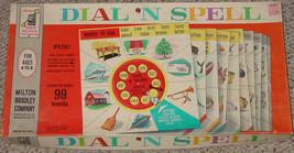 DIAL N SPELL GAME MILTON BRADLEY 1961 COMPLETE VINTAGE - $20.00