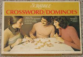 DOMINOES SCRABBLE CROSSWORD DOMINO GAME SELCHOW & RIGHTER 1976 COMPLETE - $15.00