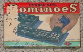 DOMINOES DOUBLE NINE DOMINO  VINTAGE OLD HALSAM COMPLETE - $25.00