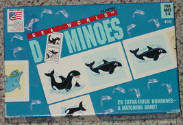 DOMINOES SEA WORLD DOMINOES GAME GREAT AMERICAN PUZZLE FACTORY 1994 COMP... - $25.00