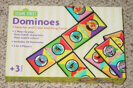 DOMINOES SESAME STREET DOMINO CHARCTER & COLOR MATCHING GAME 2003 ROSEAR... - $20.00