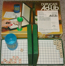 DUPLICATE AD LIB CROSSWORD CUBES GAME 1976 LOWE COMPLETE - $20.00
