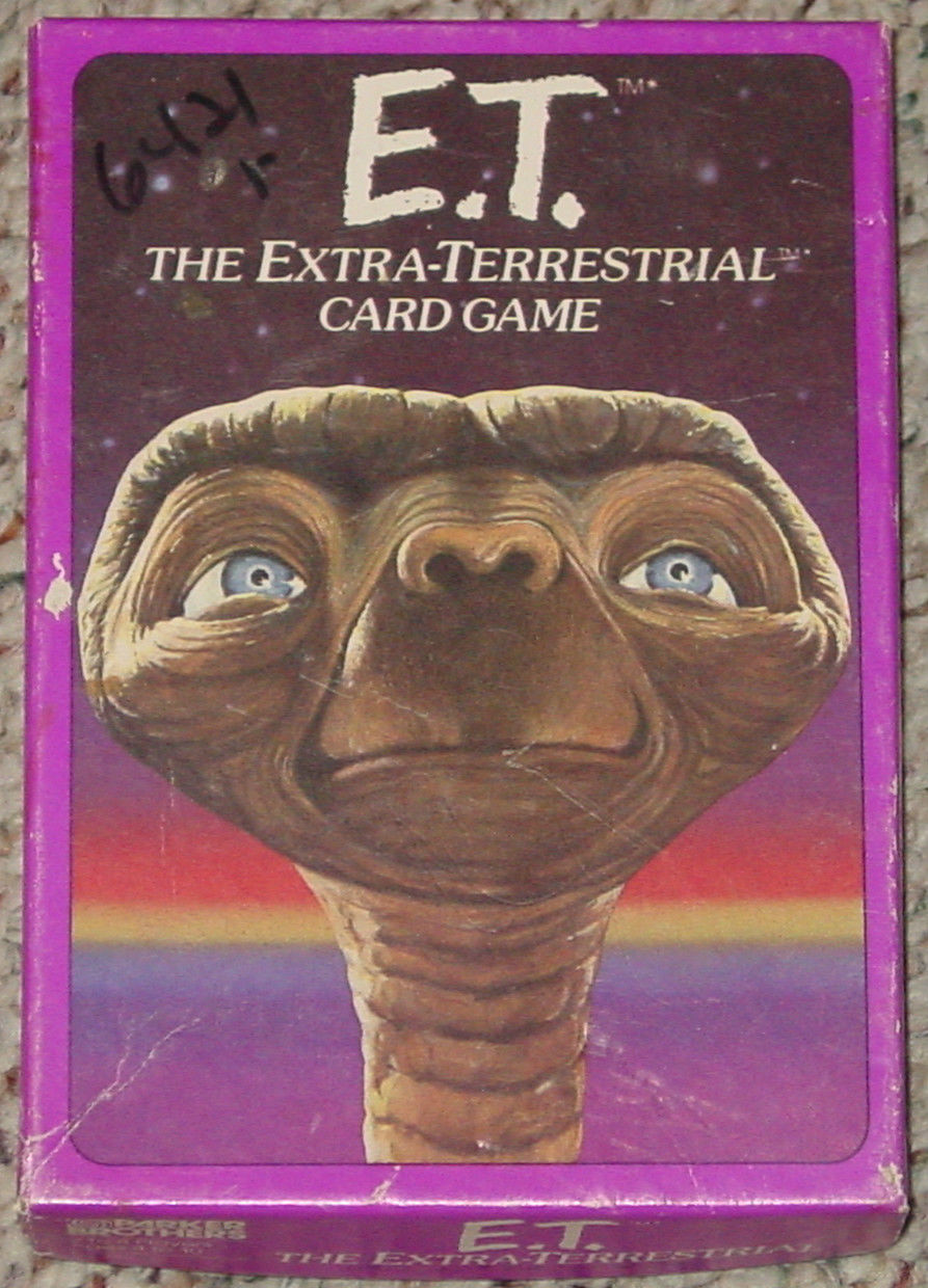 ET THE EXTRA TERRESTRIAL CARD GAME 1982 PARKER BROTHERS NO 756 COMPLETE