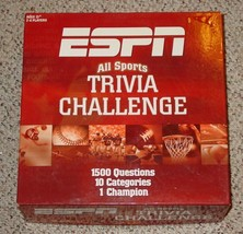 Espn All Sports Trivia Challenge Game 2005 Usaopoly Complete Nib Sealed Parts - $20.00