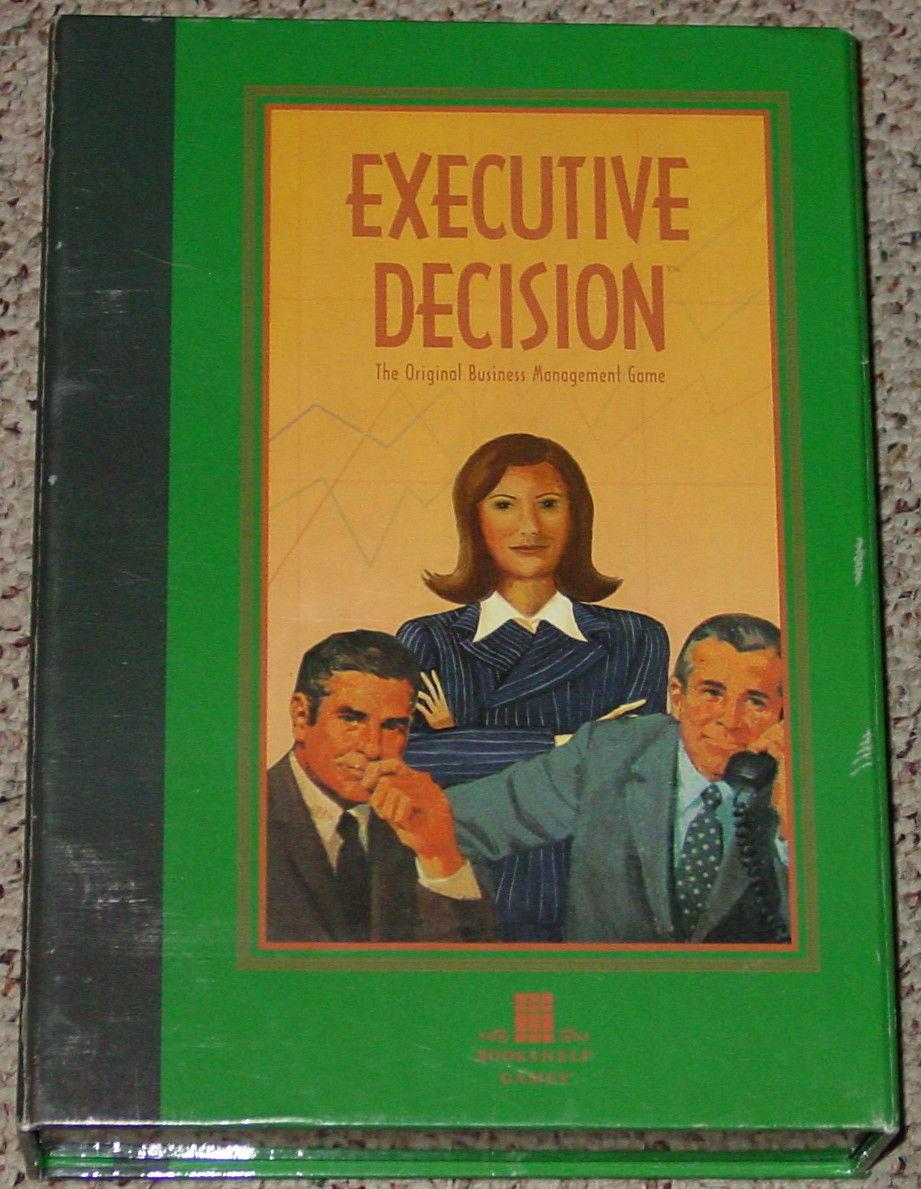 EXECUTIVE DECISION GAME BOOKSHELF GAME BUSINESS MANAGEMENT 2006 UNUSED COMPLETE
