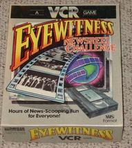 EYEWITNESS NEWSREEL CHALLENGE VCR GAME 1985 VHS FORMAT NIB COMPLETE EXCE... - $20.00