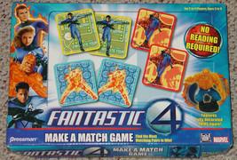 Fantastic 4 Make A Match Game 2005 Marvel Pressman Toy Co Complete - $25.00