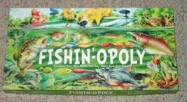 FISHINOPOLY GAME MONOPOLY STYLE LATE FOR THE SKY  COMPLETE EXCELLENT - $20.00