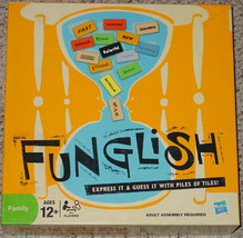 FUNGLISH GAME EXPRESS IT & GUESS IT WITH TILES HASBRO 2009 COMPLETE - $15.00