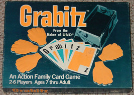 GRABITZ ACTION FAMILY CARD GAME 1979 MAKER OF INTERNATIONAL GAMES COMPLETE - $10.00