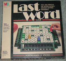 LAST WORD  GAME 1985 MAKERS OF UPWORDS 1985 #4508 MILTON BRADLEY COMPLETE - $20.00