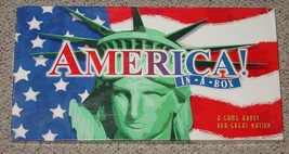 AMERICA IN A BOX GAME MONOPOLY STYLE GAME LATE FOR THE SKY COMPLETE EXCE... - $25.00